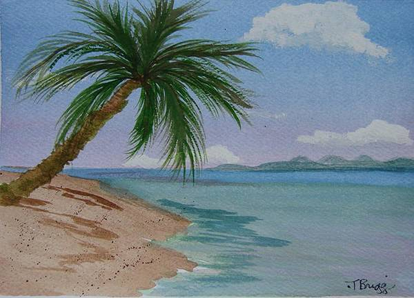 Palm Tree Art Print featuring the painting Palm Tree by Dottie Briggs