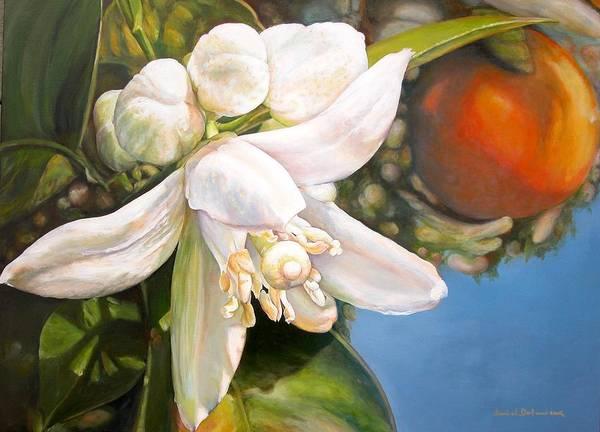 Floral Painting Art Print featuring the painting Parfum D by Muriel Dolemieux