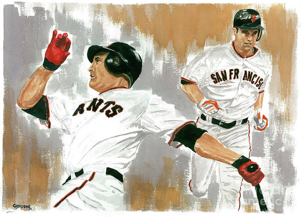 Pat Burrell Art Print featuring the painting Pat Burrell Study 1 by George Brooks