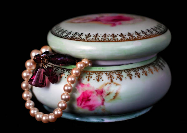 Jewelry Art Print featuring the photograph Pearls And Beads by June Marie Sobrito