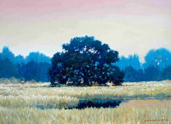 Oak Art Print featuring the painting Peggys Oak by Kevin Lawrence Leveque