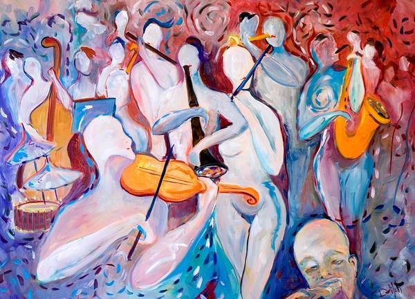 Music Art Print featuring the painting Play The Music by Delilah Smith