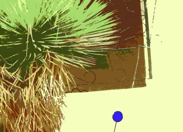 Abstract Art Print featuring the digital art Pueblo Hacienda Design by Lenore Senior