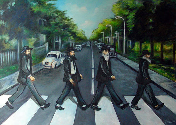Surreal Art Print featuring the painting Rabbi Road by Valerie Vescovi