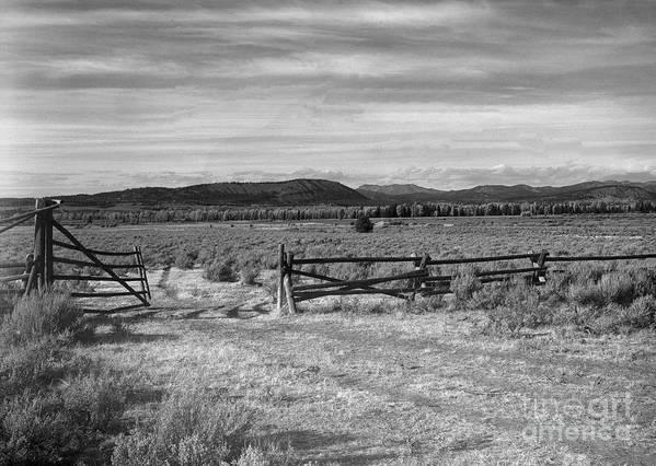 Christian Slanec Art Print featuring the photograph Ranch Road by Christian Slanec