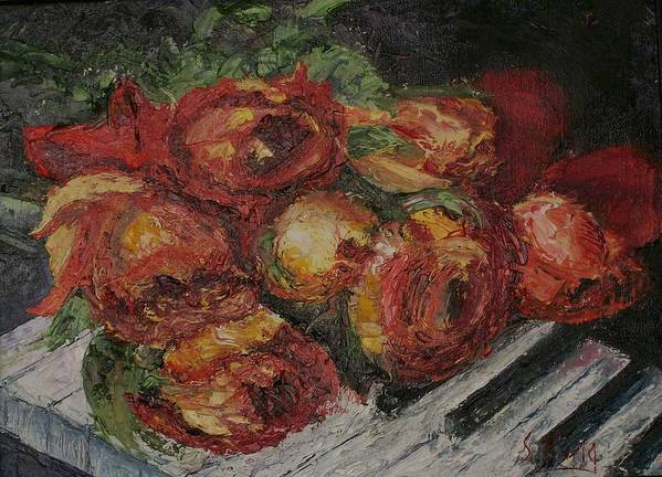 Still Life Art Print featuring the painting Rose Melody by Stephen King
