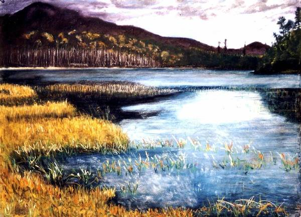 Landscape Art Print featuring the painting San Gabriel II by Jack Spath