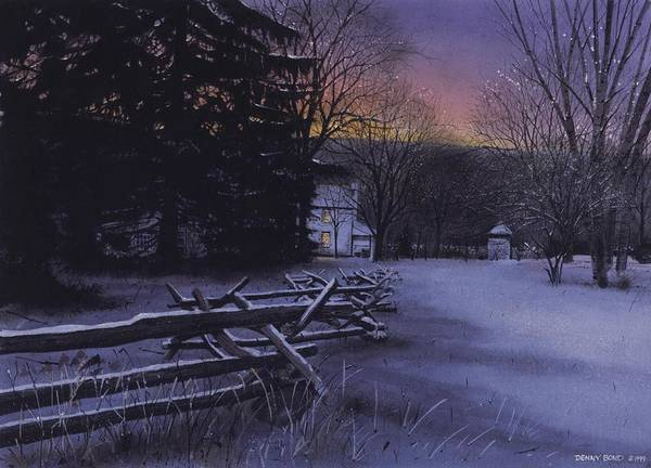 Landscape Art Print featuring the painting Secluded by Denny Bond
