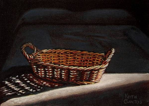 Basket Art Print featuring the drawing She Is Sleeping by Keith Gantos