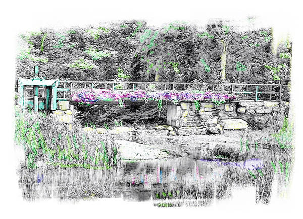 Bridge Art Print featuring the photograph Shorey Park Bridge by Rose Guay