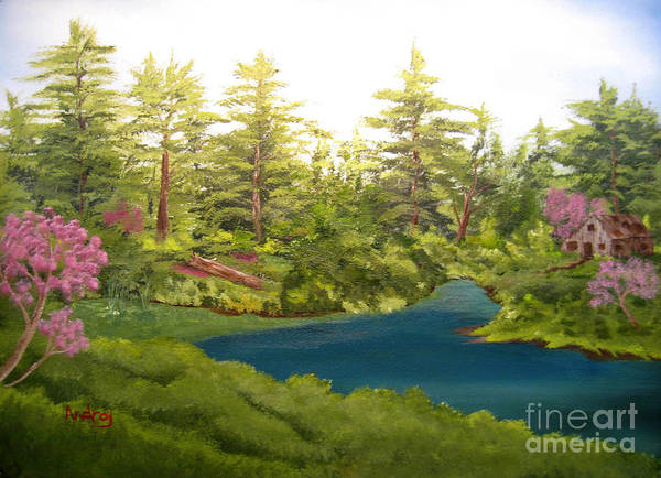 Trees Art Print featuring the painting Solitude by Todd Androy