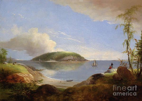 Souvenir Of Bear Island Art Print featuring the painting Souvenir Of Bear Island, Maine, 1850 by Alvan Fisher