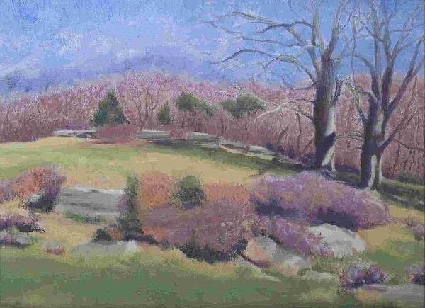 Landscape Art Print featuring the painting Spring At Ashlawn Farm by Paula Emery