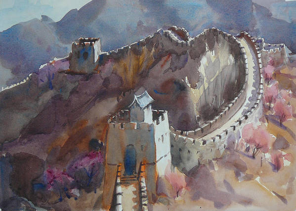 Spring On The Great Wall Of China Art Print by Frank LaLumia