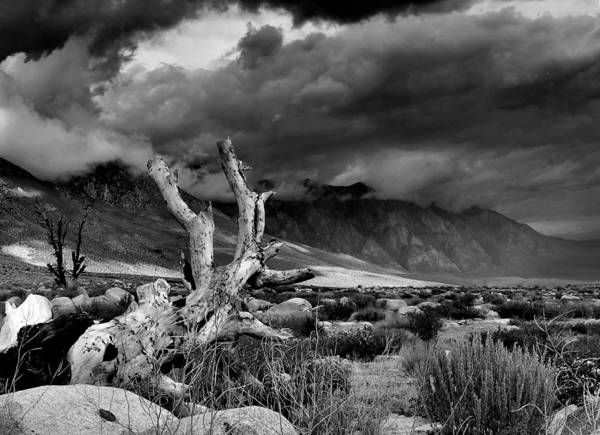 Monotone Art Print featuring the photograph Storm Over Wheeler Crest by Chris Morrison