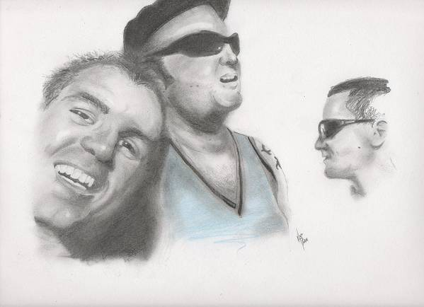 Sublime Art Print featuring the drawing Sublime Trio by Matt Burke