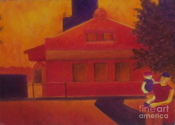 Fauvism Art Print featuring the painting Sunday Stroll by Emily Young