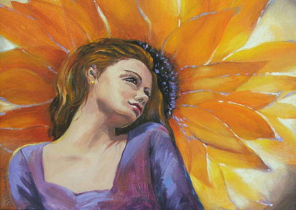 Female Art Print featuring the painting Sunny by Dianna Willman