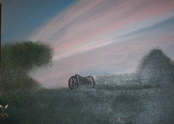 Sunset Art Print featuring the painting Sunset Canon by Rana Adamchick