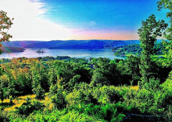 Landscape Art Print featuring the photograph Table Rock Lake by John Derby