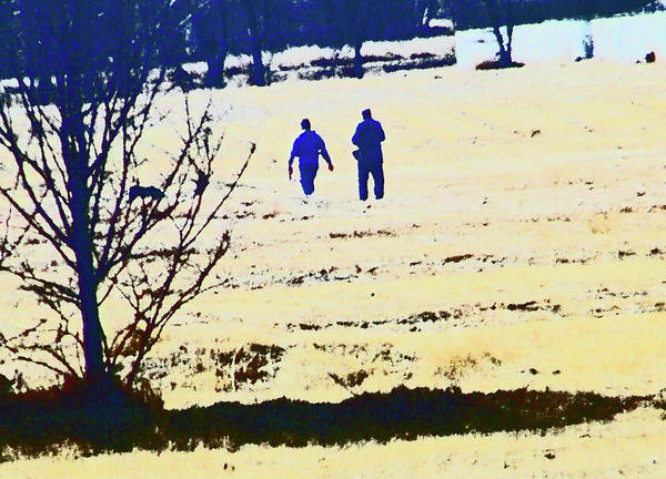 Abstract Art Print featuring the photograph Taking A Walk by Lenore Senior