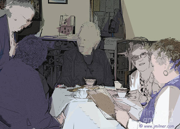 Tea Time Art Print featuring the digital art Tea Time At Sue's by Jacqueline Milner