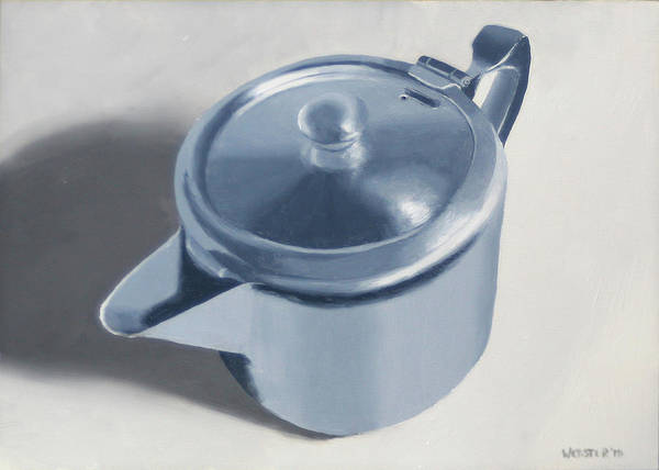 Tea Art Print featuring the painting Teapot Still Life Oil Painting by Mark Webster