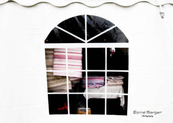 Tent Art Print featuring the photograph Tent Window by Elaine Berger