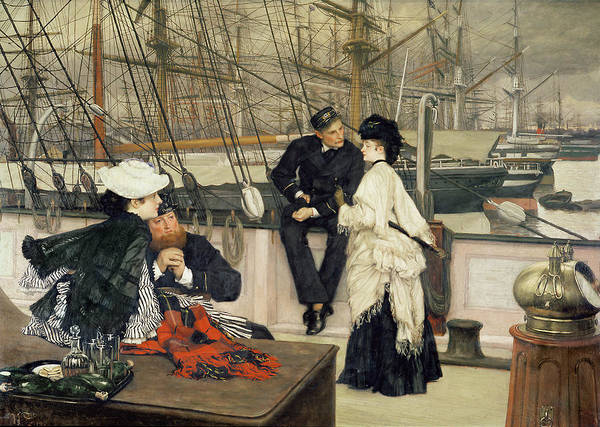 The Art Print featuring the painting The Captain And The Mate by Tissot