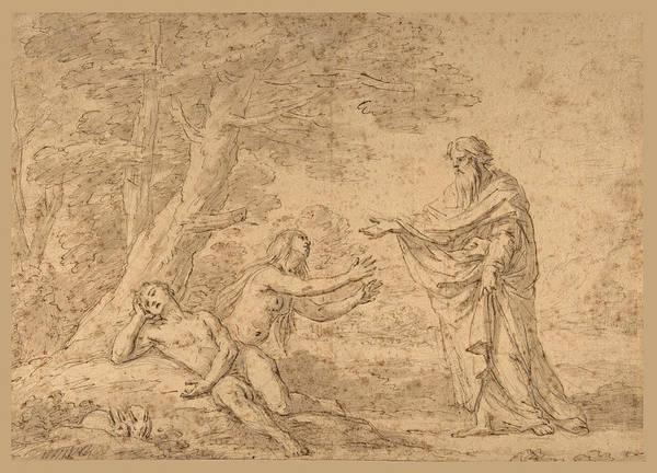 Etienne Parrocel Art Print featuring the drawing The Creation Of Eve by Etienne Parrocel