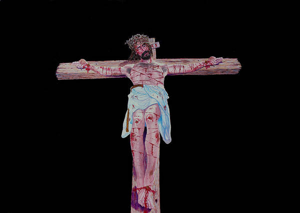Crucifixion Art Print featuring the painting The Crucifixion by Stan Hamilton