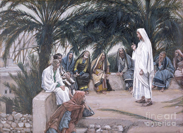 The Art Print featuring the painting The First Shall Be The Last by Tissot