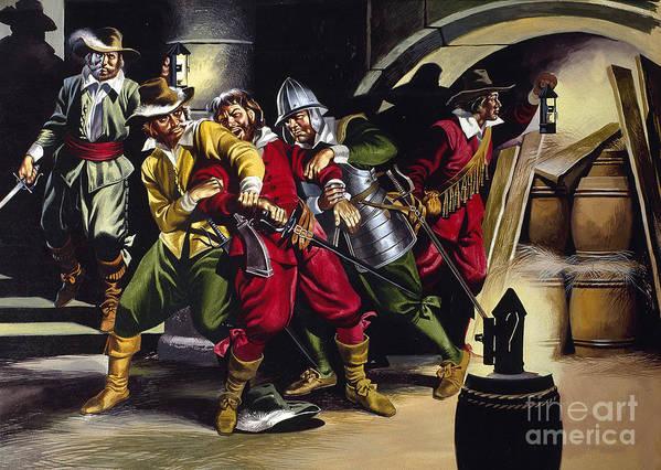 Gunpowder Art Print featuring the painting The Gunpowder Plot by Ron Embleton