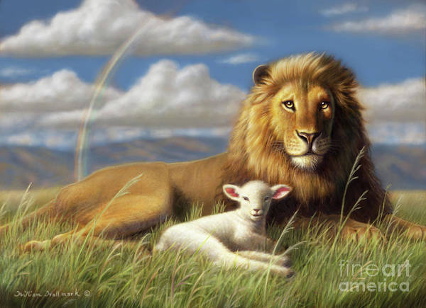 The Lion And Lamb Art Print By William Hallmark