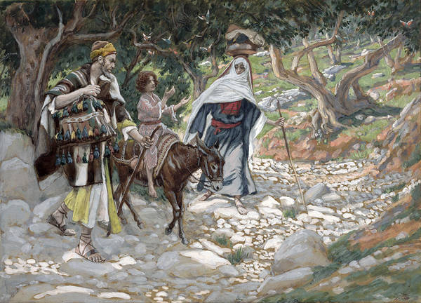 Ass Art Print featuring the painting The Return From Egypt by Tissot