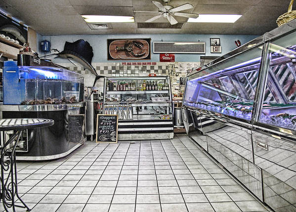 Seafood Art Print featuring the photograph The Seafood Store by Anthony Rapp