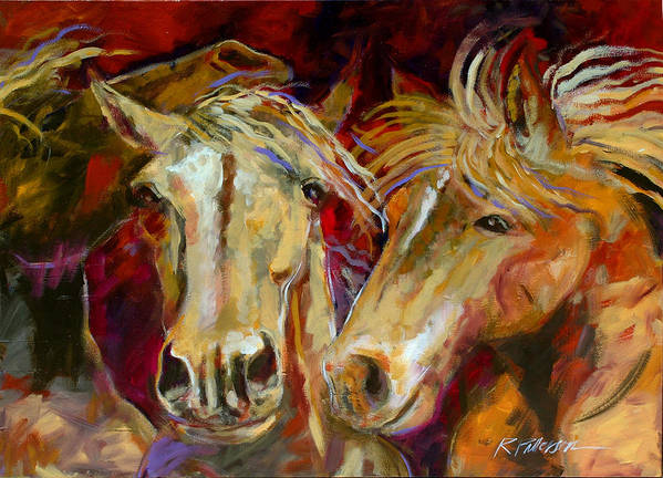 Nature Art Print featuring the painting Three by Ron Patterson
