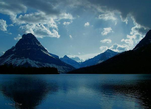Two Medicine Lake Art Print featuring the photograph Two Medicine Lake by Tracey Vivar