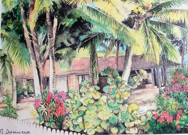 Landscape Art Print featuring the painting Union by Muriel Dolemieux