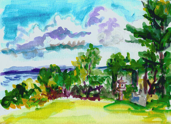 Landscape Art Print featuring the painting View From Rockcraft by Gail Wartell