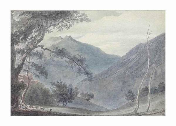 John Robert Cozens Art Print featuring the painting View Near Sallanches by John Robert Cozens