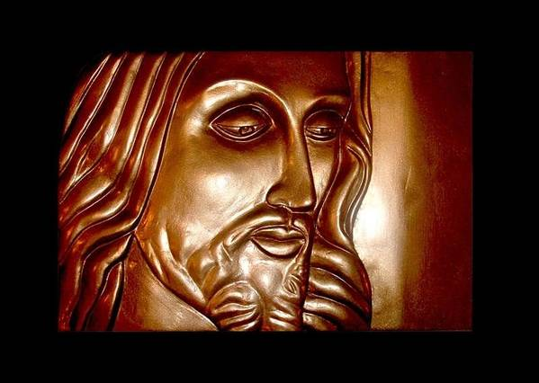 Jesus Art Print featuring the relief Virtue by A Yasini
