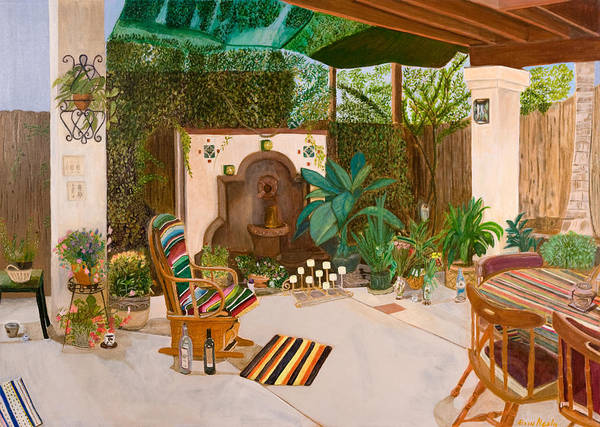Landscape Art Print featuring the painting Welcome To Paradise by Arvin Nealy