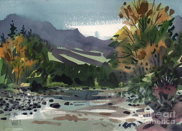 White River Art Print featuring the painting White Water On The White River by Donald Maier