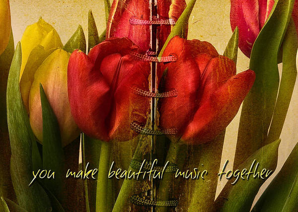 Tulips Print featuring the photograph You Make Beautiful Music Together by Dania Reichmuth