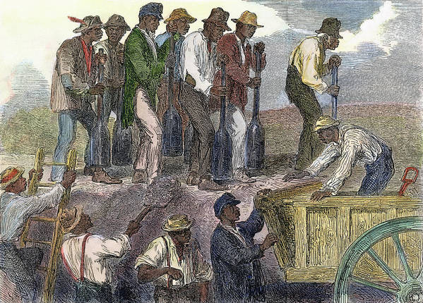B1019 Art Print featuring the painting Civil War: Slavery, 1863 by Granger