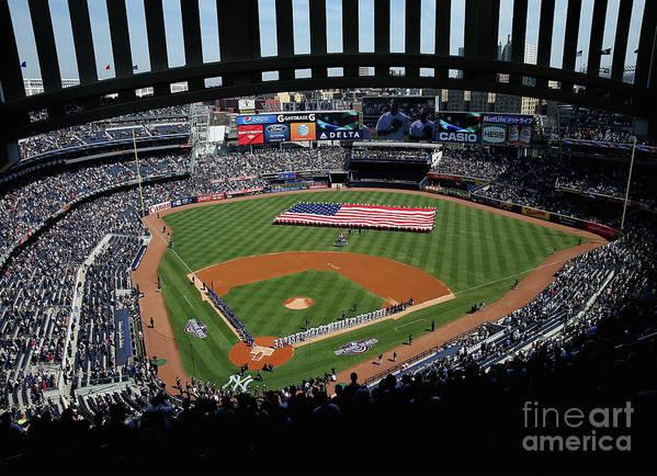 American League Baseball Art Print featuring the photograph Toronto Blue Jays V New York Yankees by Elsa