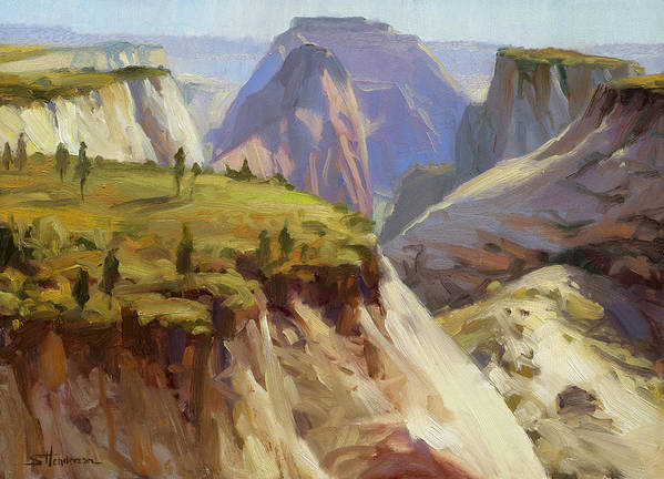 Zion Art Print featuring the painting High On Zion by Steve Henderson
