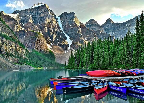 Lake Art Print featuring the photograph Mountain Tranquility by Frozen in Time Fine Art Photography