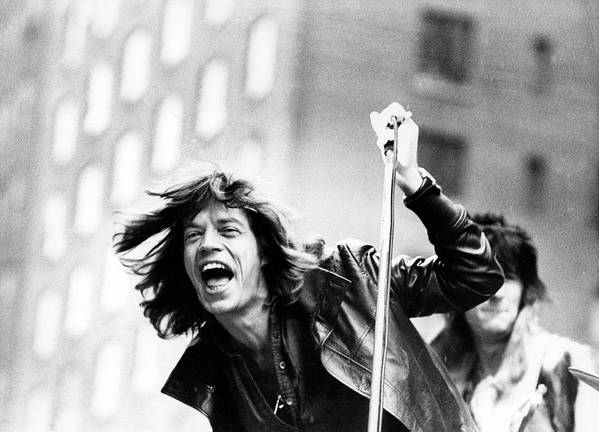 People Art Print featuring the photograph Rolling Stones On Fifth Avenue by Fred W. McDarrah